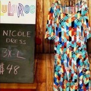 NWT 3x LuLaRoe Nicole Dress.